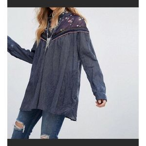 Free People floral striped Tunic